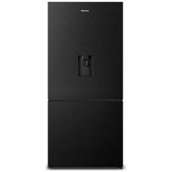 HR6BMFF518BW Hisense 518L Bottom Mount Black Steel Fridge