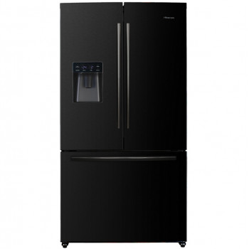 HR6FDFF630B Hisense 630L Black French Door Fridge