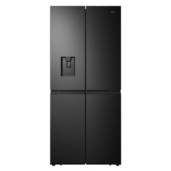 HRCD512BW Hisense 507L Black Steel French Door Fridge