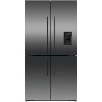 RF605QDUVB1 Fisher and Paykel 605L Black Stainless Steel Quad Door Fridge