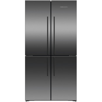 RF605QDVB1 Fisher and Paykel 605L Black Stainless Steel French Door Fridge