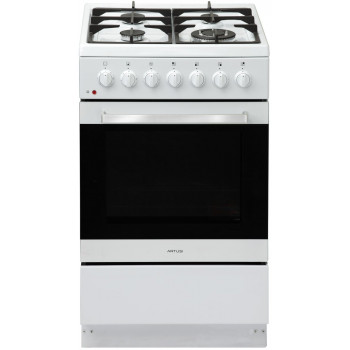 AFGE5470W Artusi 54 cm  COOKER FREESTANDING DUAL FUEL WHTIE