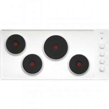 CHEF 90cm Electric 4 solid element white enamel cooktop  CHS942WA
