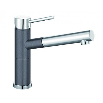 Rock Grey and Chrome Blanco ALTASA Pull Out Tap  ALTASG