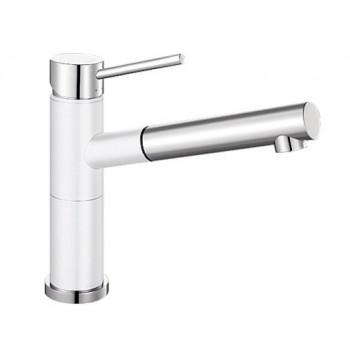 White and Chrome Blanco ALTASA Pull Out Tap  ALTASW