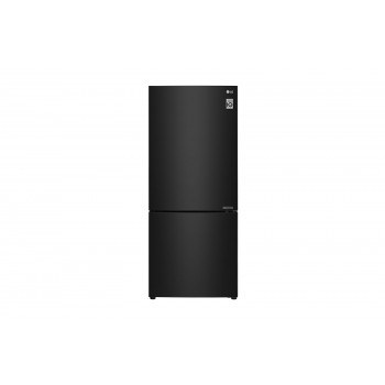GB-455BTL LG 454L Bottom Mount Fridge with Door Cooling in Black Steel Finish