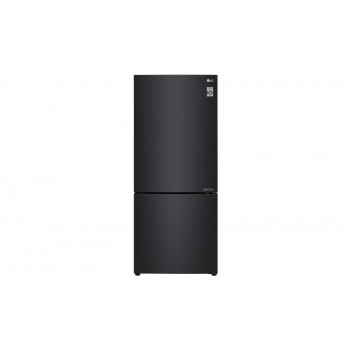 GB-455MBL LG 454 L Bottom Mount Fridge with Door Cooling in Matte Black Finish